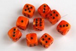 Kości Chessex - kostka k6 12mm Vortex Orange/black