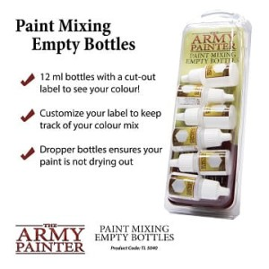 Army Painter: puste buteleczki (Empty Mixing Bottles)