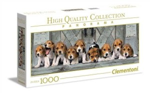 Puzzle 1000 Panorama - Beagles