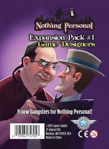 Nothing Personal: Expansion Pack #1 - Game Designers