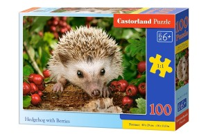 Puzzle 100 Hedgehog with Berries