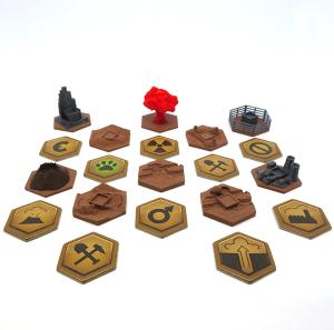 Brązowe płytki specjalne do gry Terraformacja Marsa