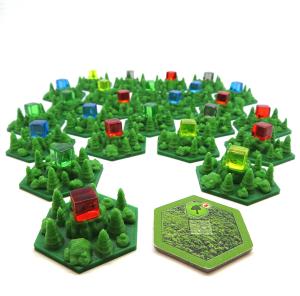 Płytki lasu do gry Terraformacja Marsa