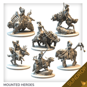 Tainted Grail: The Fall of Avalon - Mounted characters set - sundrop