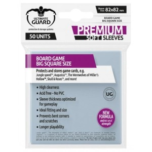 Koszulki na karty Ultimate Guard Big Square Premium Soft 80x80 mm 50 sztuk