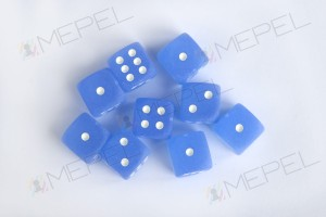 Kości Chessex - kostka k6 12mm Frosted Blue/white