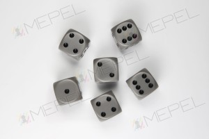 Kości Chessex - kostka k6 16mm Opaque Grey/black