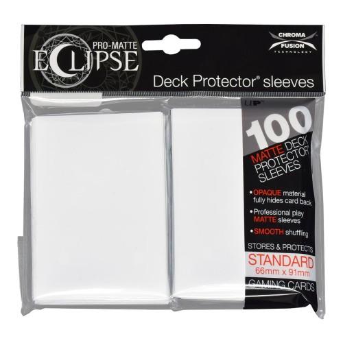 Koszulki na karty Ultra-Pro Pro-Matte Eclipse Arctic White 66x91 mm 100 sztuk (białe)