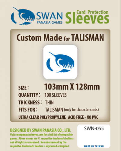 Koszulki na karty Swan Panasia Talisman 103x128 mm thin (cienkie) 100 sztuk