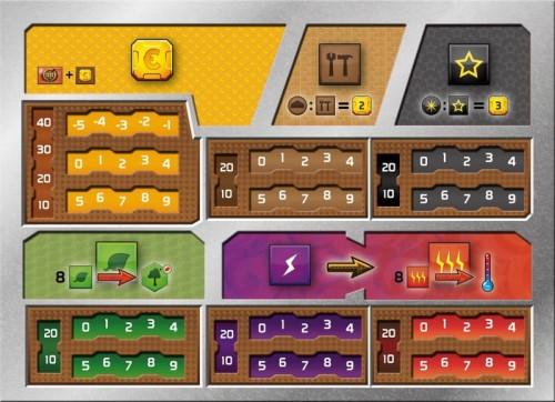 Terraformacja Marsa: Zestaw 5 plansz graczy (z wycięciami)