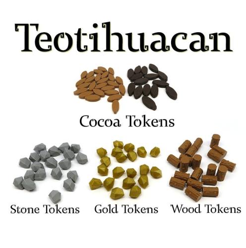 Zamienne znaczniki zasobów do gry Teotihuacan