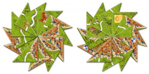 Carcassonne: połówki (Halb so wild)