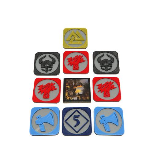 Elementy zamienne do Blood Rage: żetony plądrowania