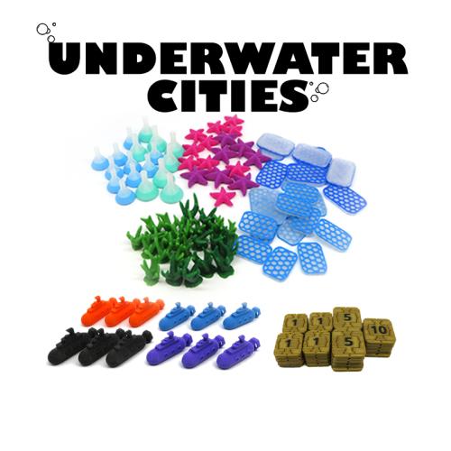 Elementy zamienne do gry Podwodne miasta - Zestaw
