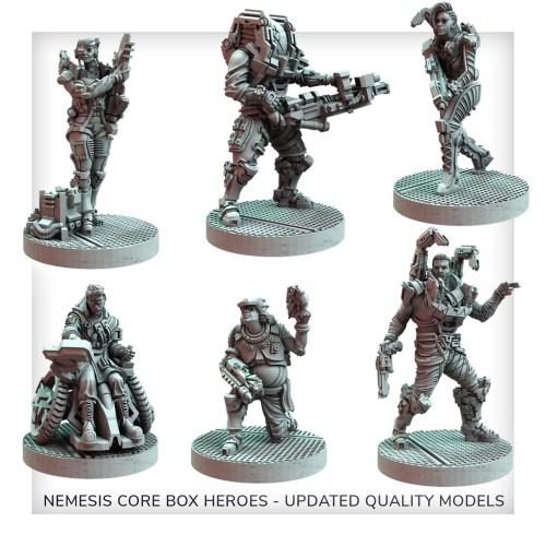 Nemesis: Lockdown: Poprawione Modele Bohaterów Core Box