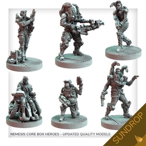 Nemesis: Lockdown: Poprawione Modele Bohaterów Core Box (Sundrop)