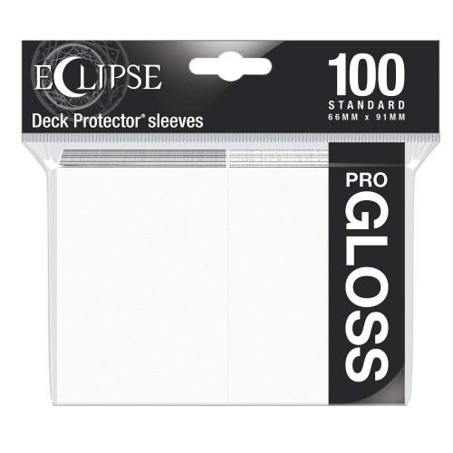 Koszulki na karty Ultra-Pro Pro-Gloss Eclipse Arctic White 66x91 mm 100 sztuk (białe)