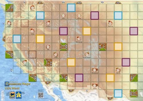 Carcassonne: Mapa zachodnich USA (West USA)