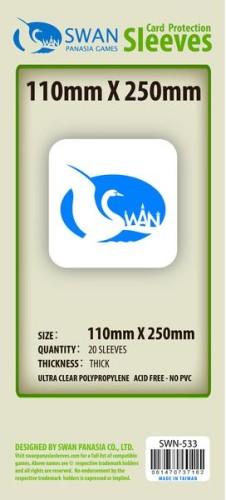 Koszulki na karty Swan Panasia 7 Cudów Świata plansze 110x250 mm thick (grube) 20 sztuk