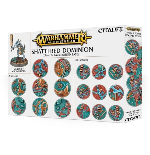 Warhammer Age of Sigmar: Shattered Dominion - 25 & 32mm Round Bases