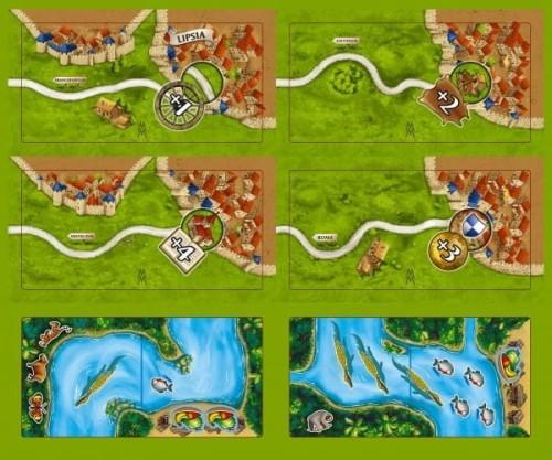 Carcassonne: Die Märkte zu Leipzig + Amazonas