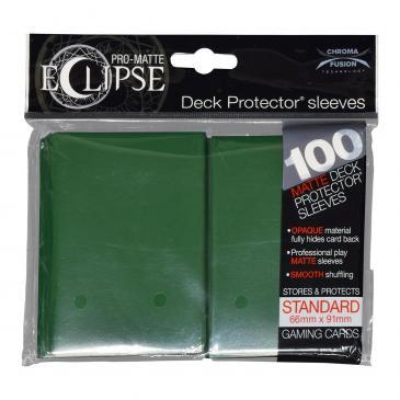 Koszulki na karty Ultra-Pro Pro-Matte Eclipse 66x91 mm 100 sztuk (leśny zielony)