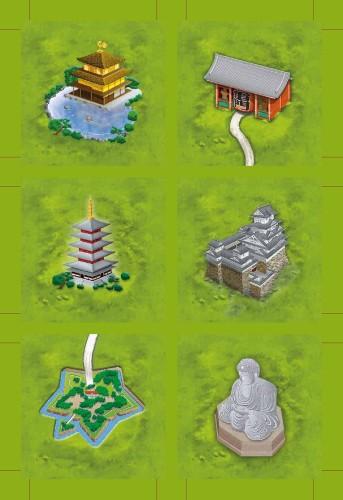 Carcassonne: Japońskie świątynie (Klöster/Temple in Japan)