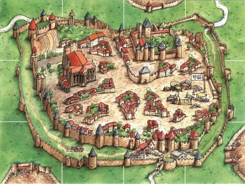 Carcassonne: kafelek startowy Miasto
