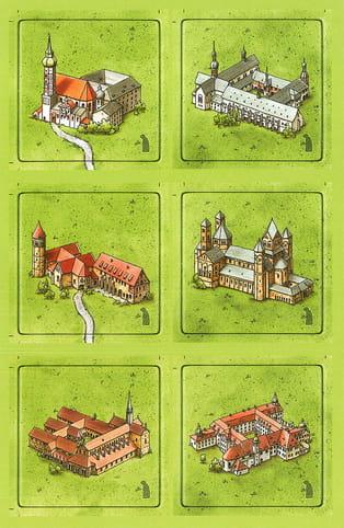 Carcassonne: Niemieckie klasztory (Die Klöster)