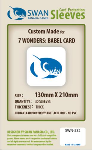 Koszulki na karty Swan Panasia 7 Cudów Świata Babel 130x210 mm thick (grube) 30 sztuk