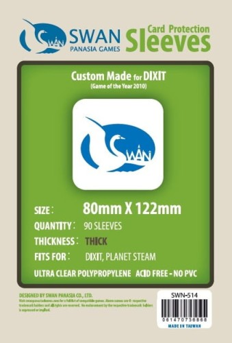 Koszulki na karty Swan Panasia Dixit 80x122 mm thick (grube) 90 sztuk