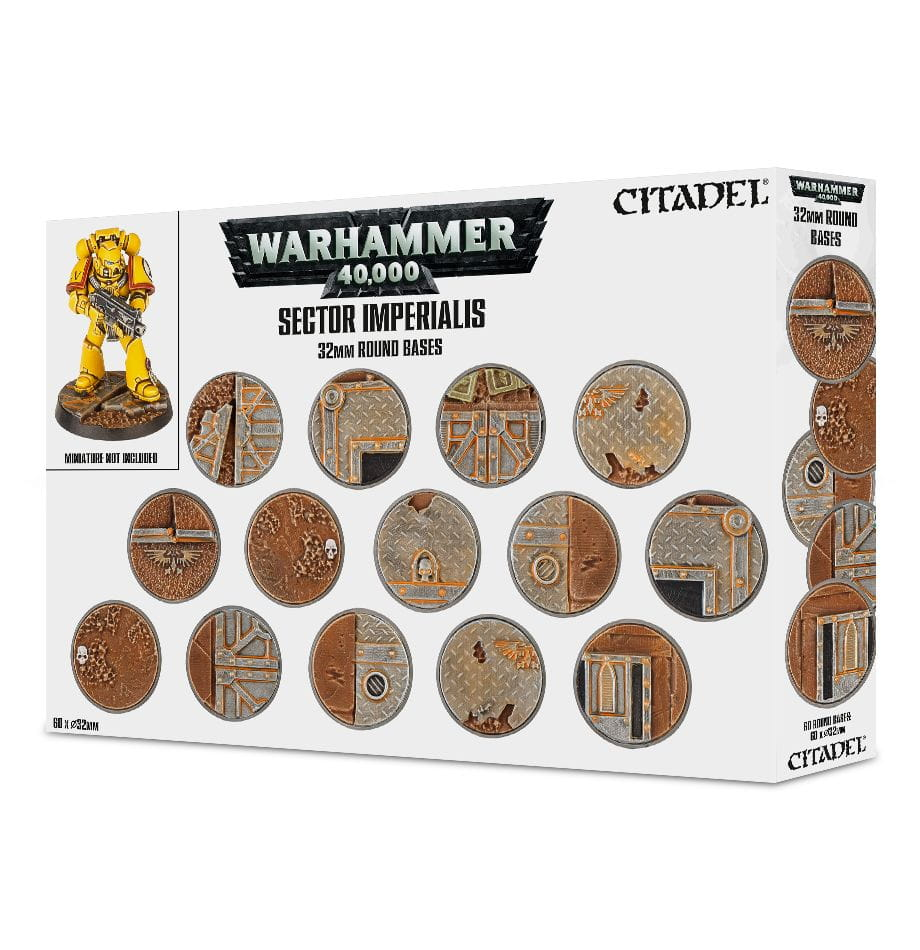Citadel Sector Imperialis 32mm Round Bases