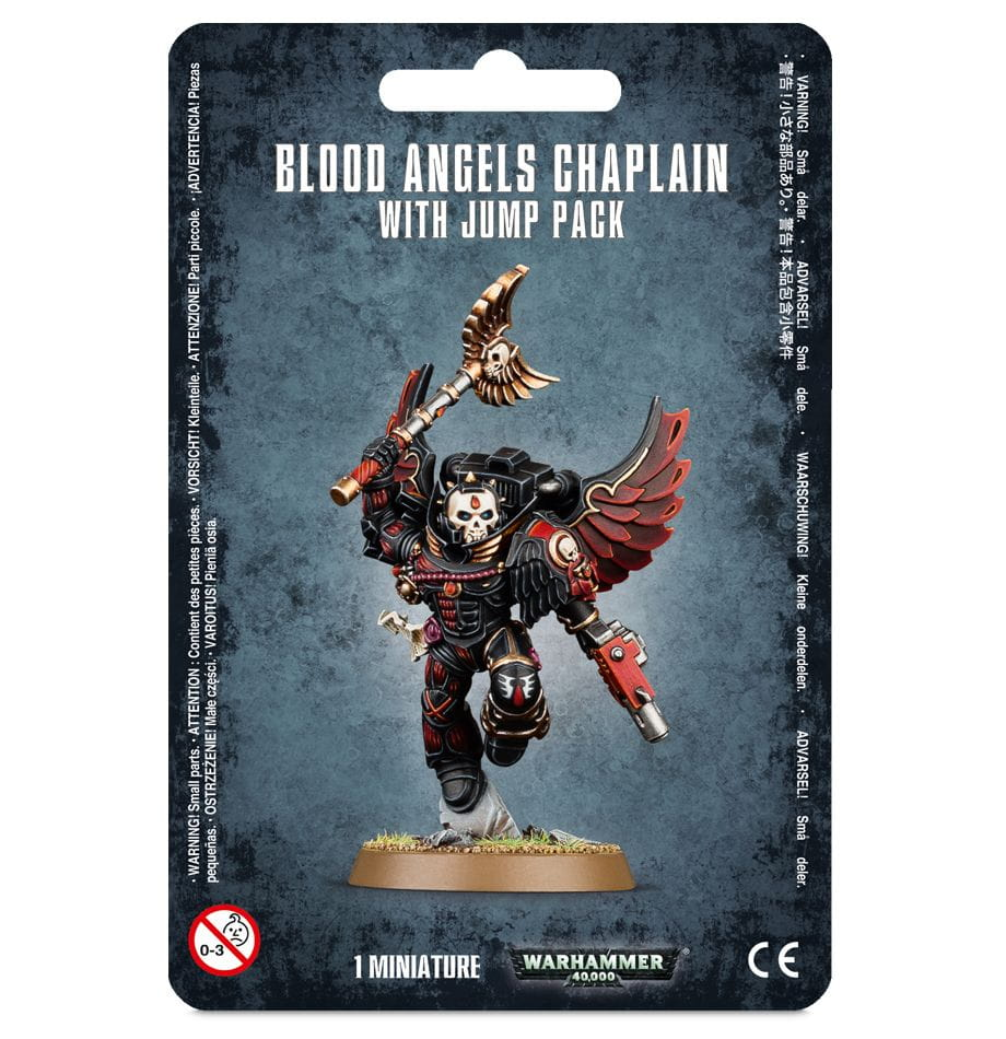 Warhammer 40,000: Blood Angels Chaplain with Jump Pack