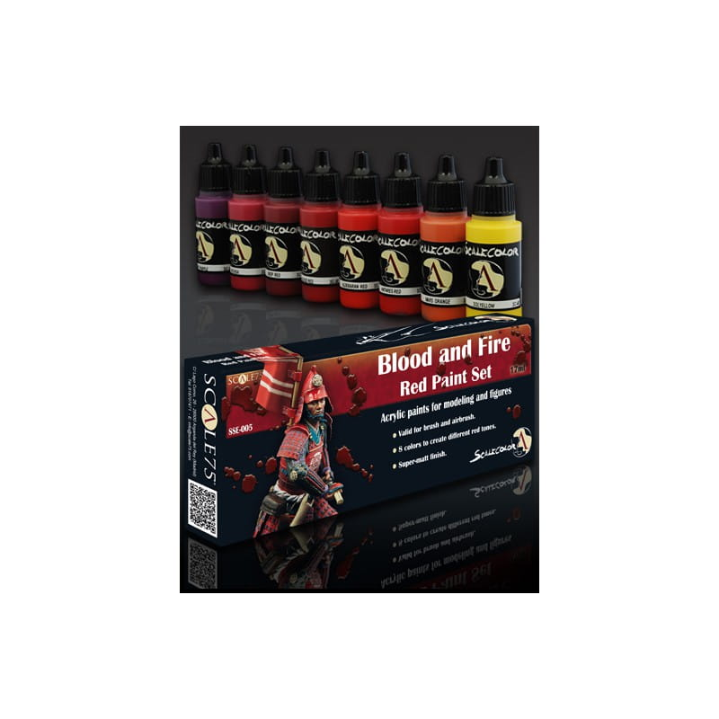 Scalecolor: BLOOD and FIRE Red Paint Set