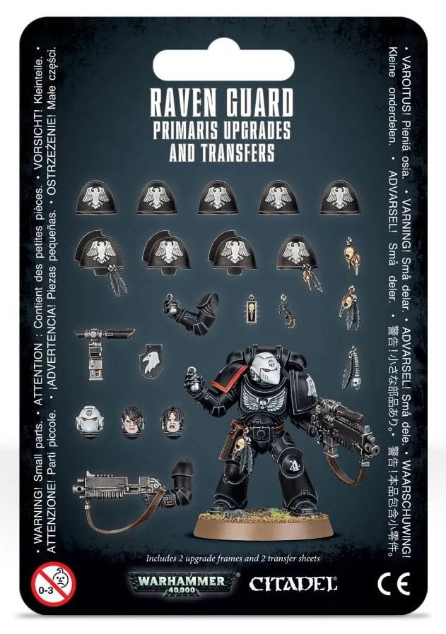 Warhammer 40,000: Raven Guard Primaris Upgrades and Transfers