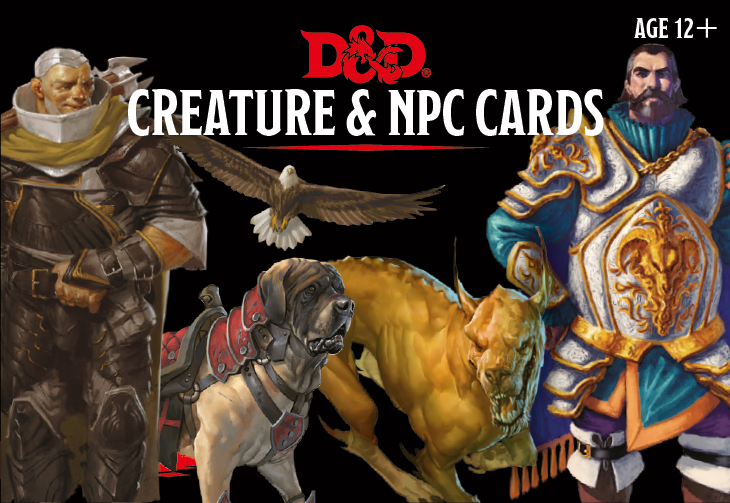 D&D RPG: Creature and NPC Cards (Dungeons and Dragons RPG)