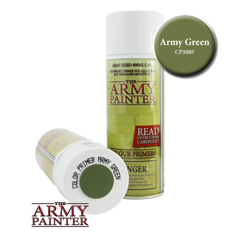 Army Painter Spray Primer - Army Green