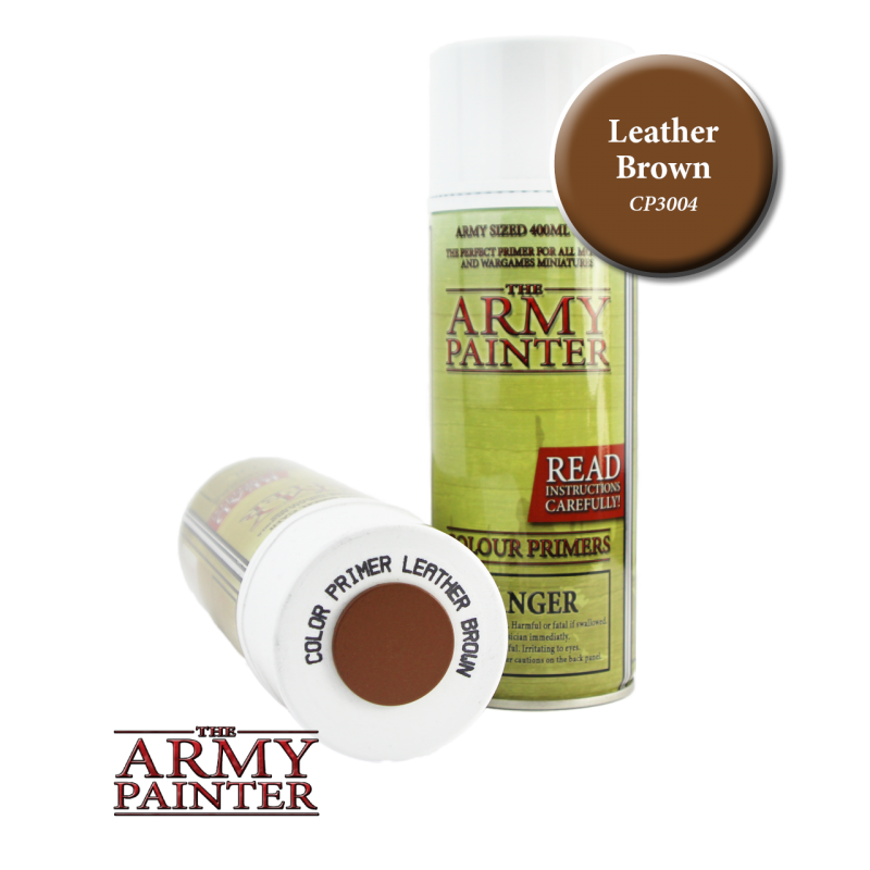 Army Painter Spray Primer - Leather Brown