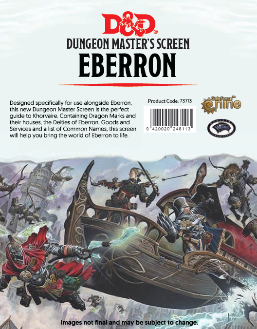 D&D RPG: Eberron - Rising From the Last War Dungeon Master's Screen  (Dungeons and Dragons RPG)