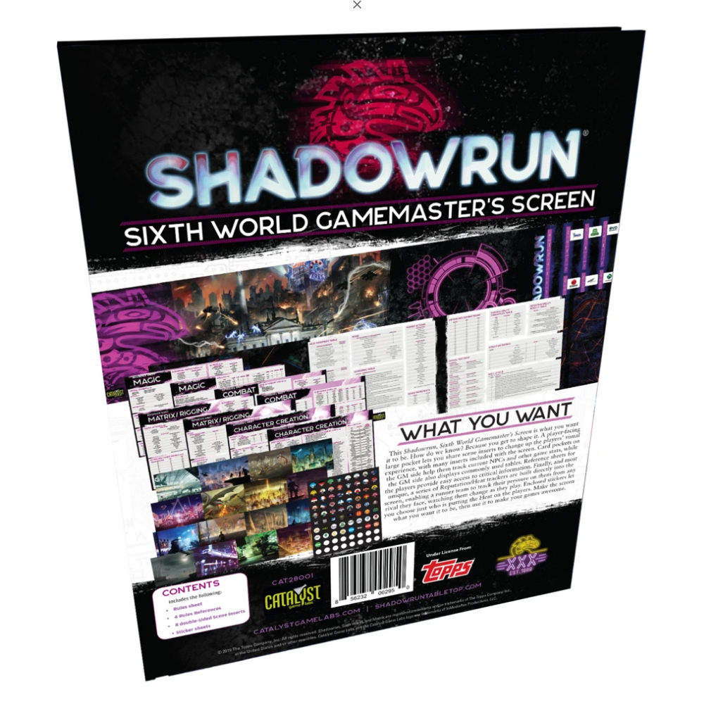 Shadowrun RPG: Gamemaster's Screen (6th edition)