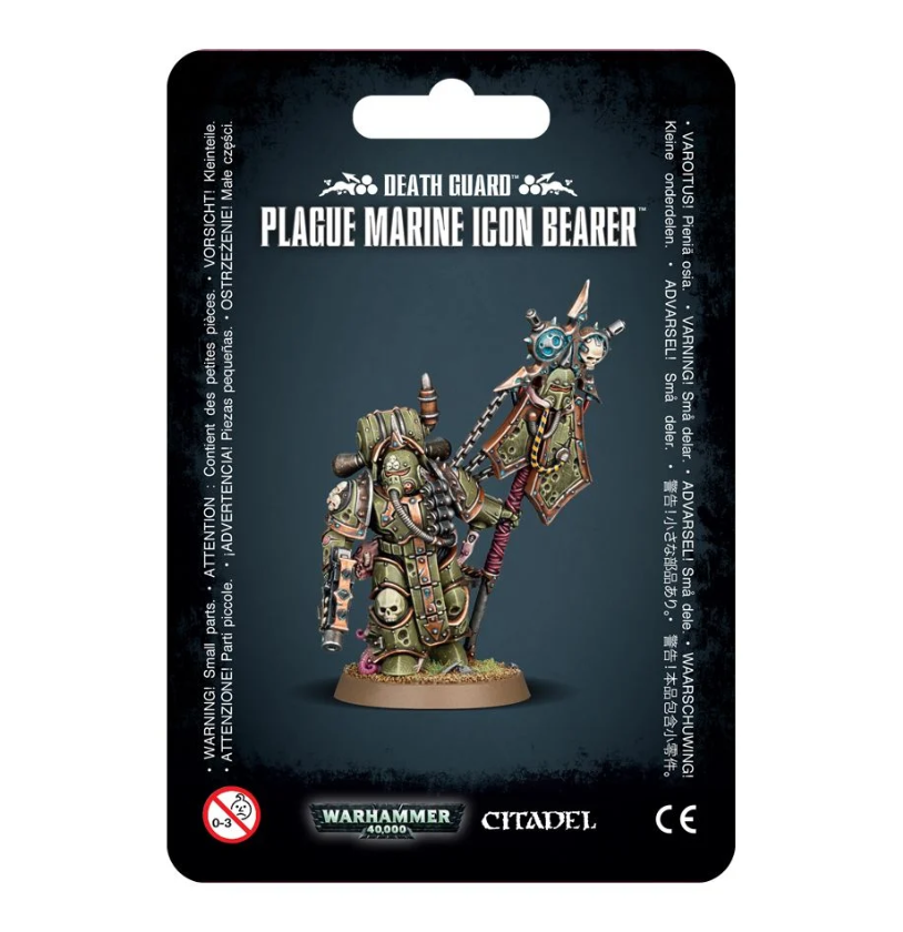 Warhammer 40,000: Death Guard Plague Marine Icon Bearer