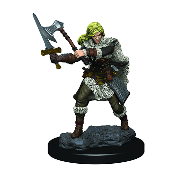 D&D RPG: Icons of the Realms - Premium Painted Miniatures - Female Human Barbarian