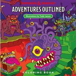 D&D RPG: Adventures Outlined - Coloring Book (Dungeons and Dragons RPG)