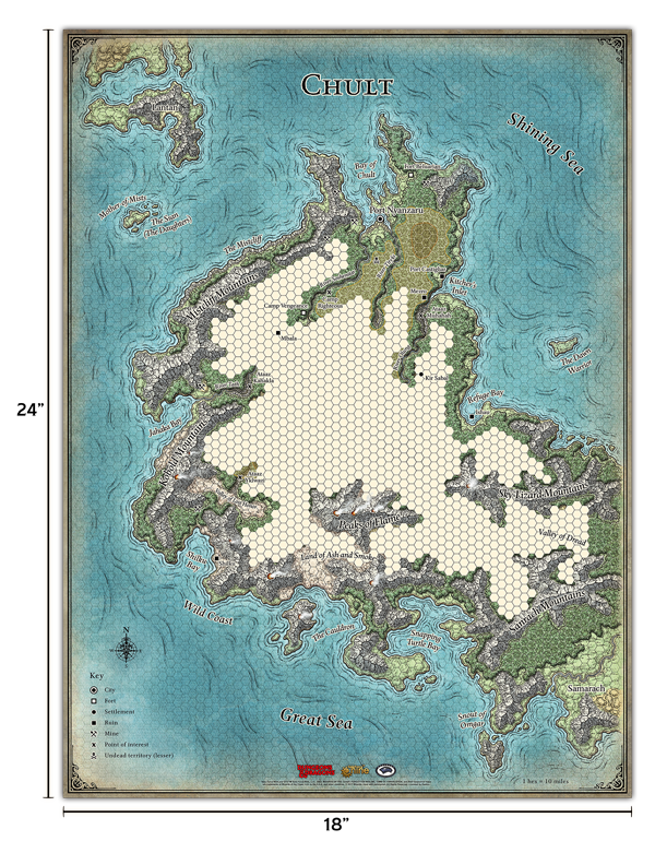 D&D RPG: Tomb of Annihilation Map Set (Dungeons and Dragons RPG)